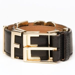 "MOSCHINO REDWALL ""I FEEL GREAT"" LEATHER BELT"